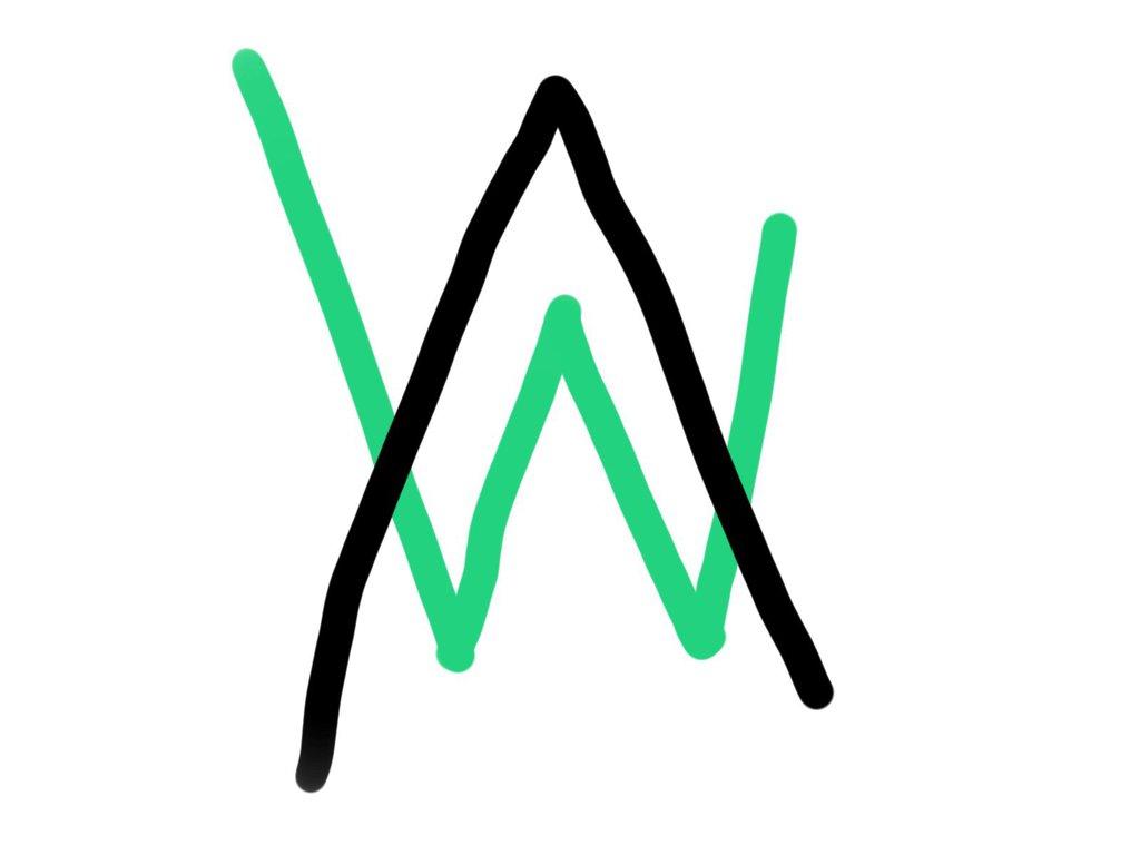 Alan Walker Logo by insertgooduserhere 1024x768