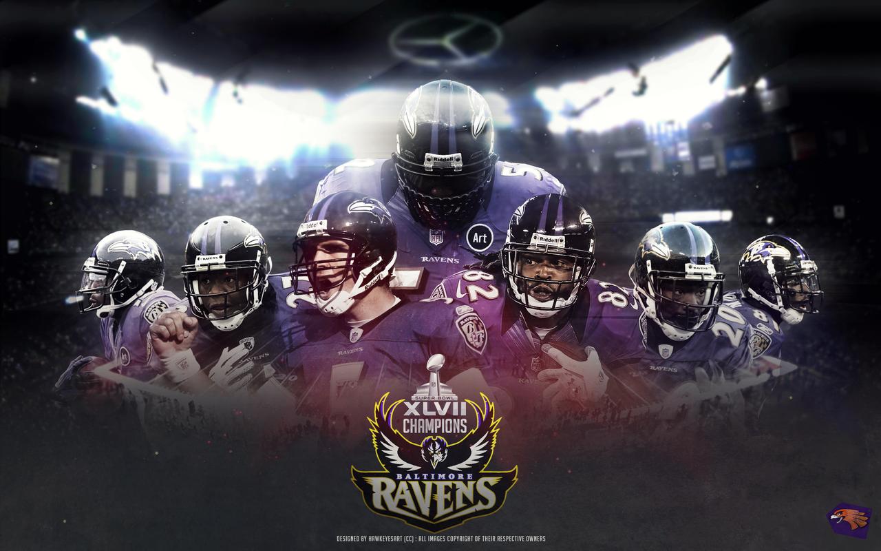 Baltimore Ravens SB XLVII Champions by TheHawkeyeStudio 1280x800