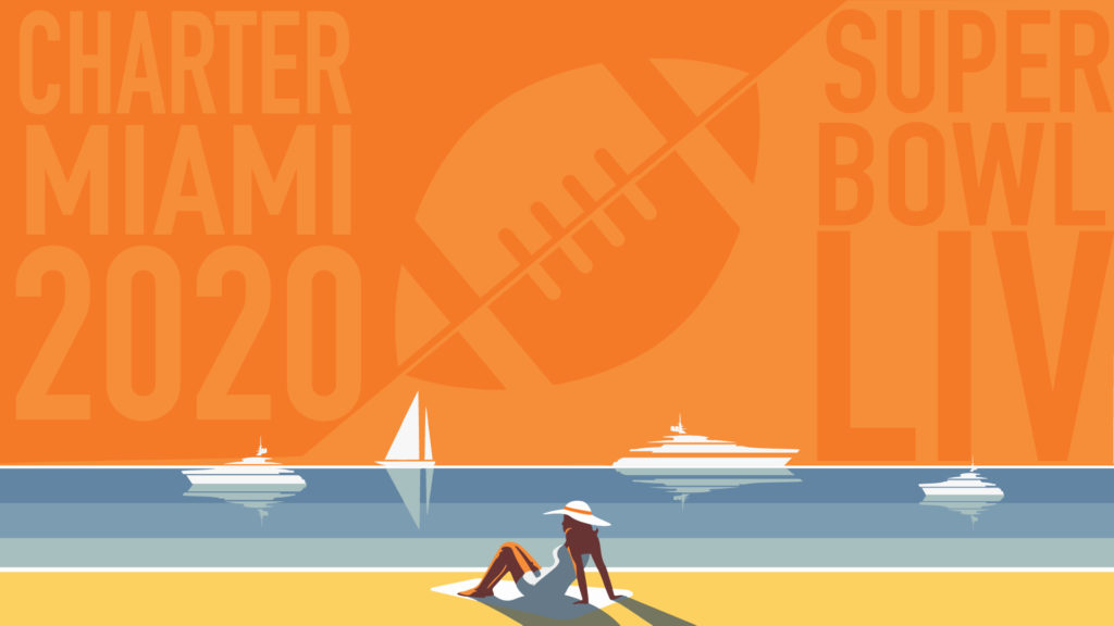 Charter a Yacht for Super Bowl 2020 in Miami Super Bowl LIV 1024x576