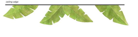 Wall About Fun Banana Leaf Wall Decals   Tropical Leaf Wall Border 570x156