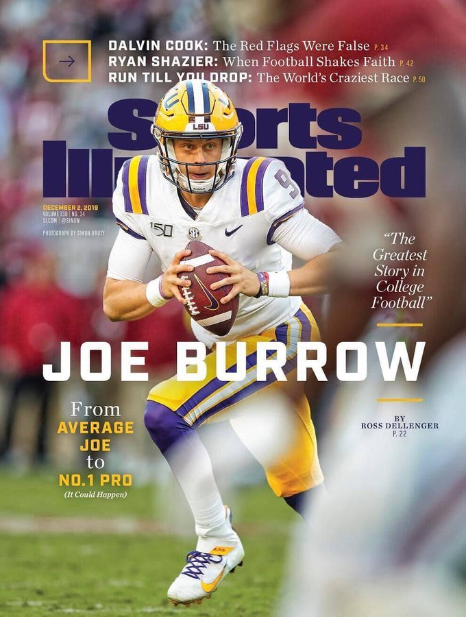Joe Burrow graces cover of Sports Illustrated magazine KLFY 680x900