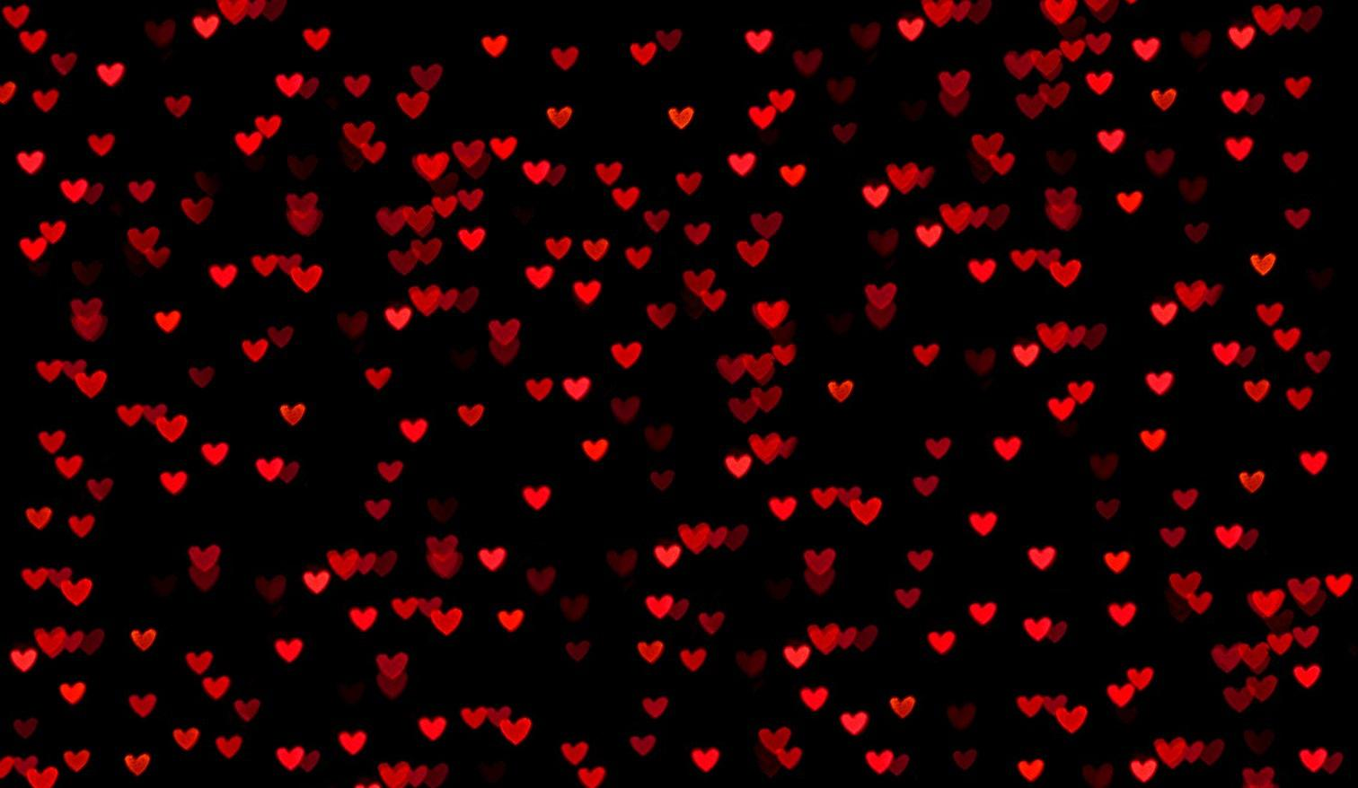 Black Red Love Wallpaper : Red Hearts Black Background - WallpaperSafari