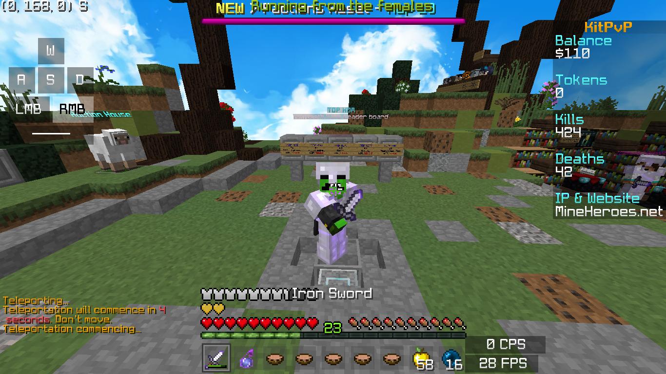 KitPvP   10 KD Whoops MineHeroes   Minecraft Server 1366x768
