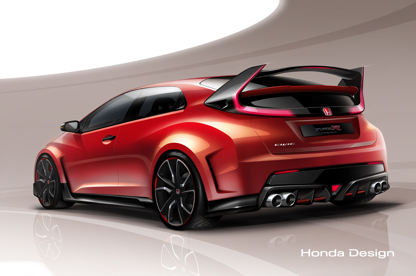 2015 Honda Civic Type R Wallpaper HD 4074   Grivucom 1600x1060