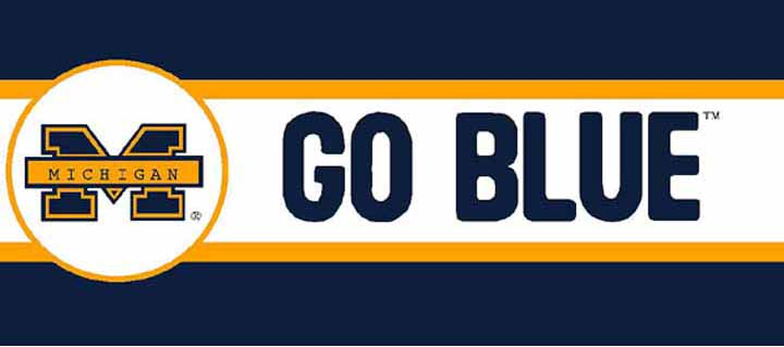 Michigan Wolverines Wallpaper Border 720x319