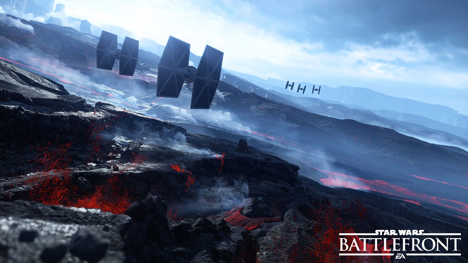 Creating the planet Sullust for Star Wars Battlefront   Star 1920x1080