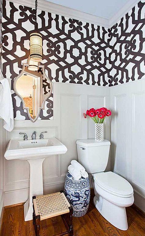 Bathroom Design Ideas Small Bathroom Bold Prints Wallpapers Small 474x768