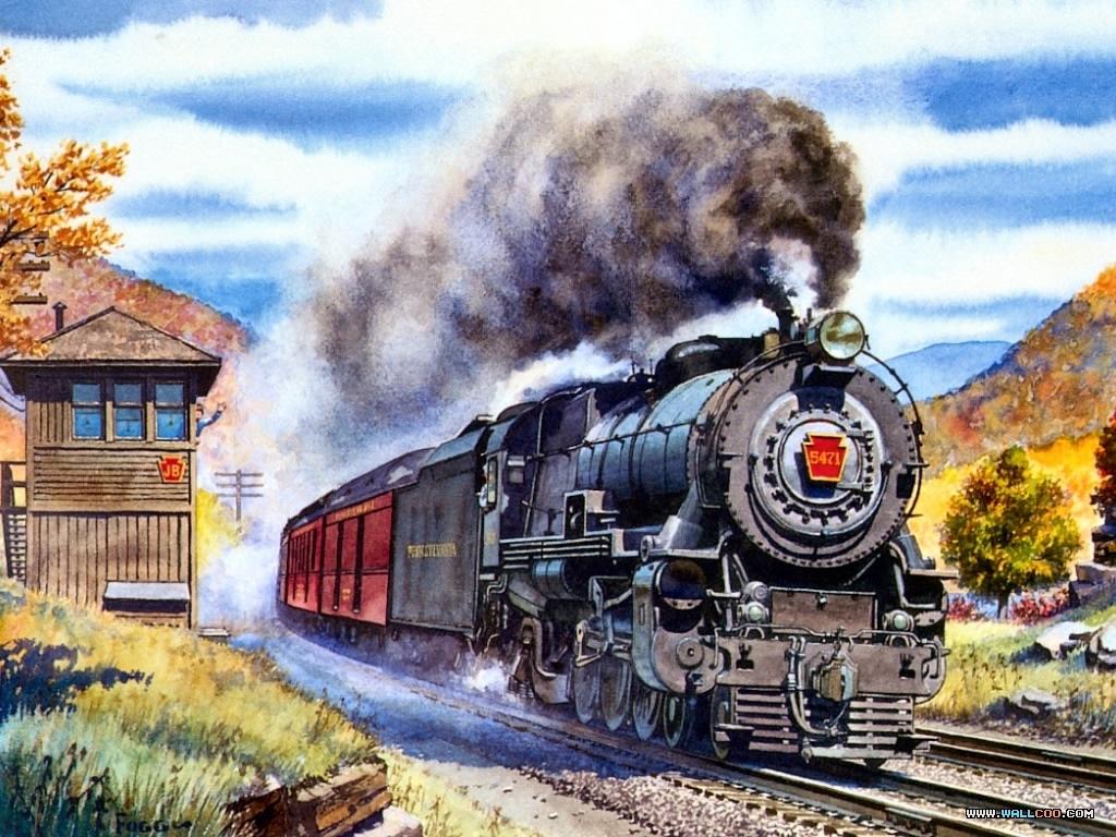 Ретро открытки поездов, днем милиции картинки