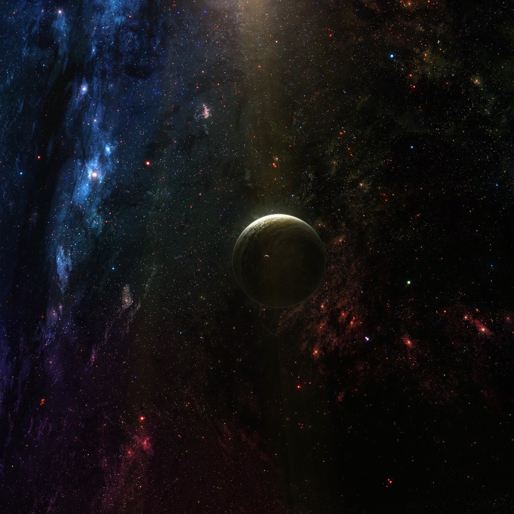 Planet In Deep Space iPad Wallpaper Download iPhone Wallpapers iPad 1024x1024