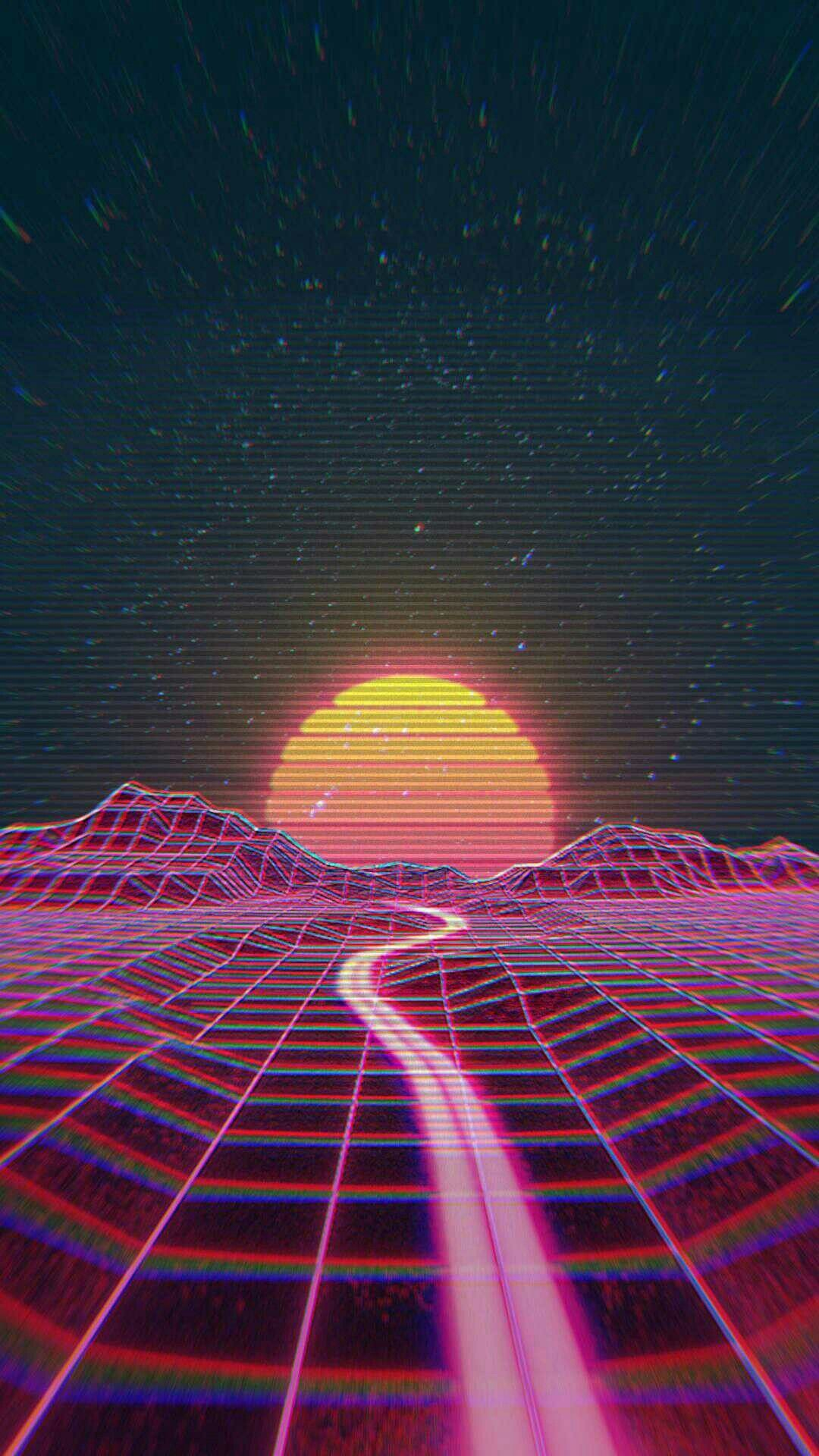 77 Neon 80S Wallpapers on WallpaperPlay 1080x1920