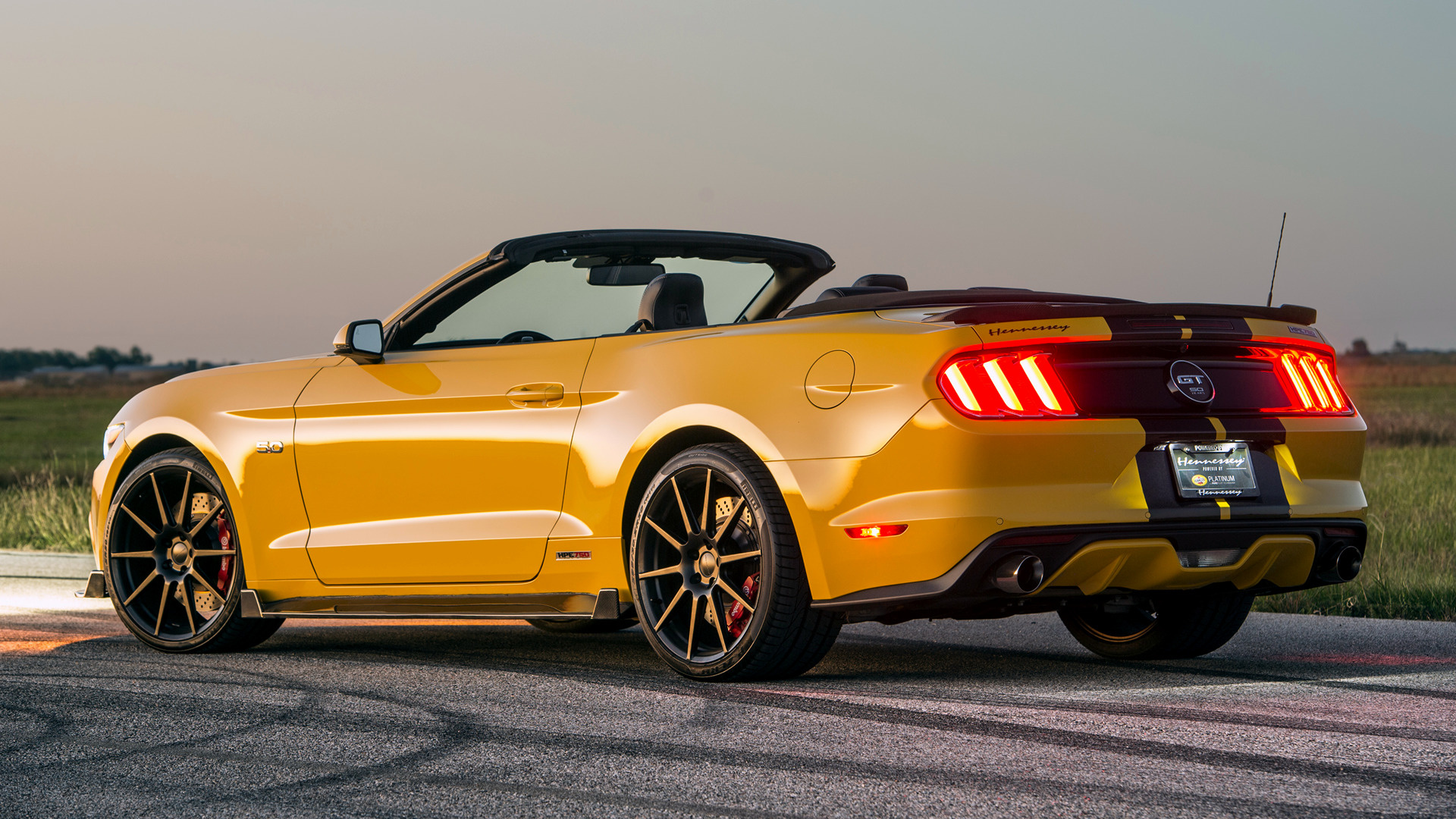 Hennessey Mustang GT Convertible HPE750 Supercharged 2016 Wallpapers 1920x1080