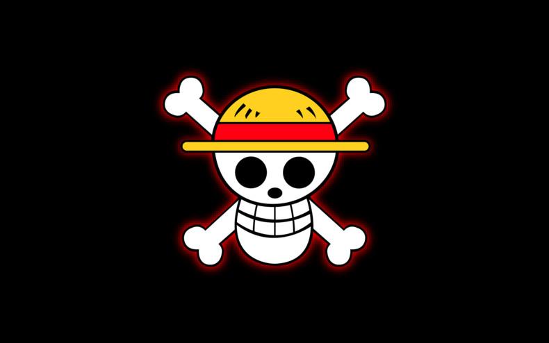 One Piece Logo Wallpaper One piece   straw hat logo 790x494