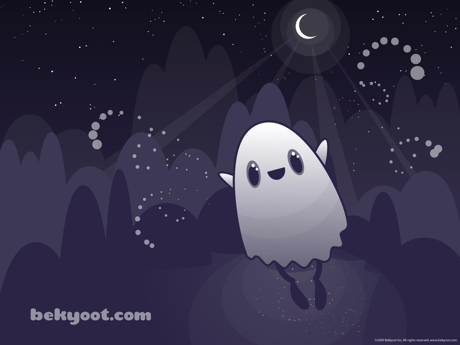 Cute Ghost Wallpaper Bu the ghosts night flight 1600x1200