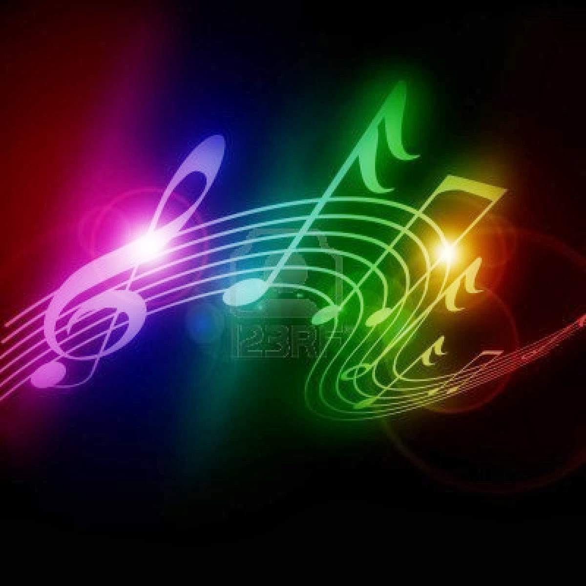 Neon Music Notes Wallpaper - WallpaperSafari