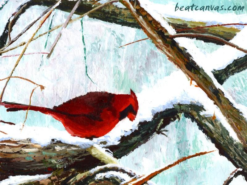 cardinal winter computer wallpaper - photo #33