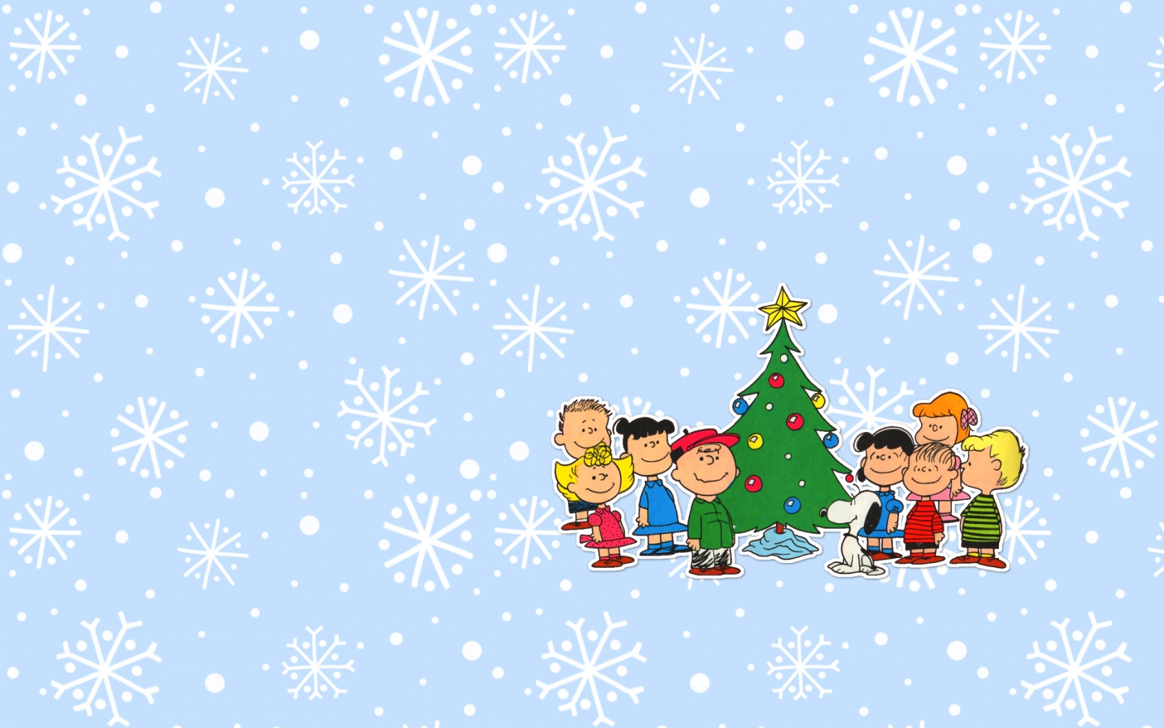 Charlie Brown Christmas Background 1680x1050
