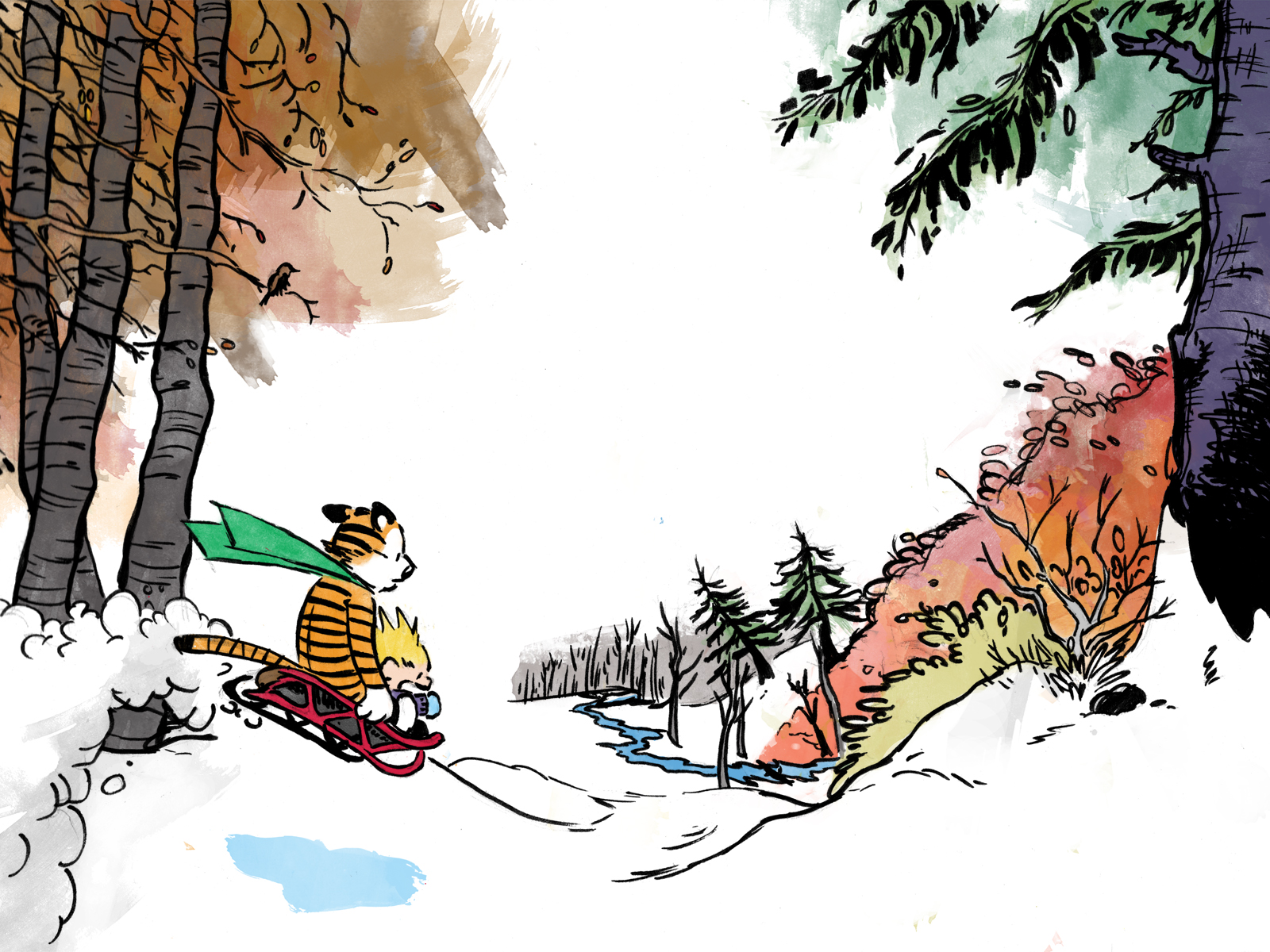 Free Download Go Back Images For Calvin And Hobbes Wallpaper Snow