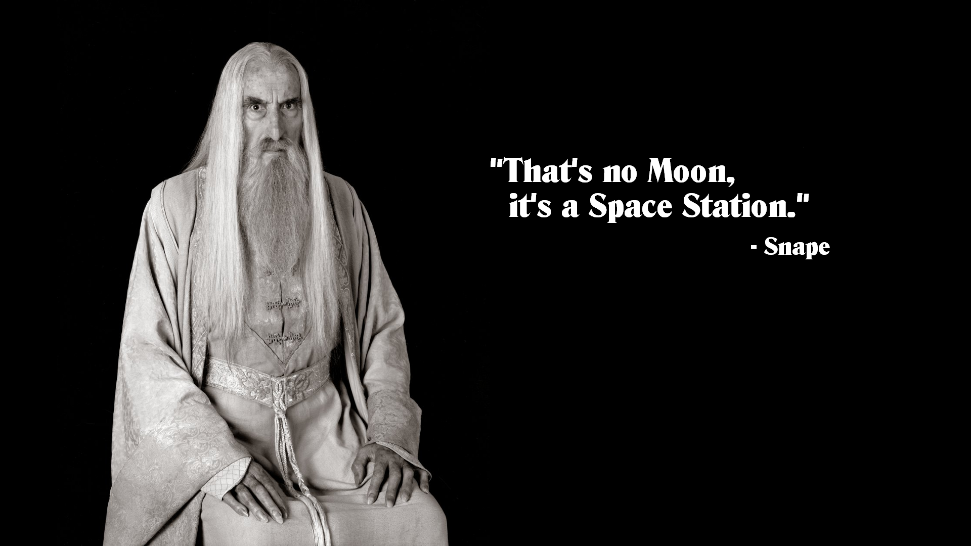 Quotes Harry Potter Saruman Star Wars Lord Rings Black Funny 1920x1080