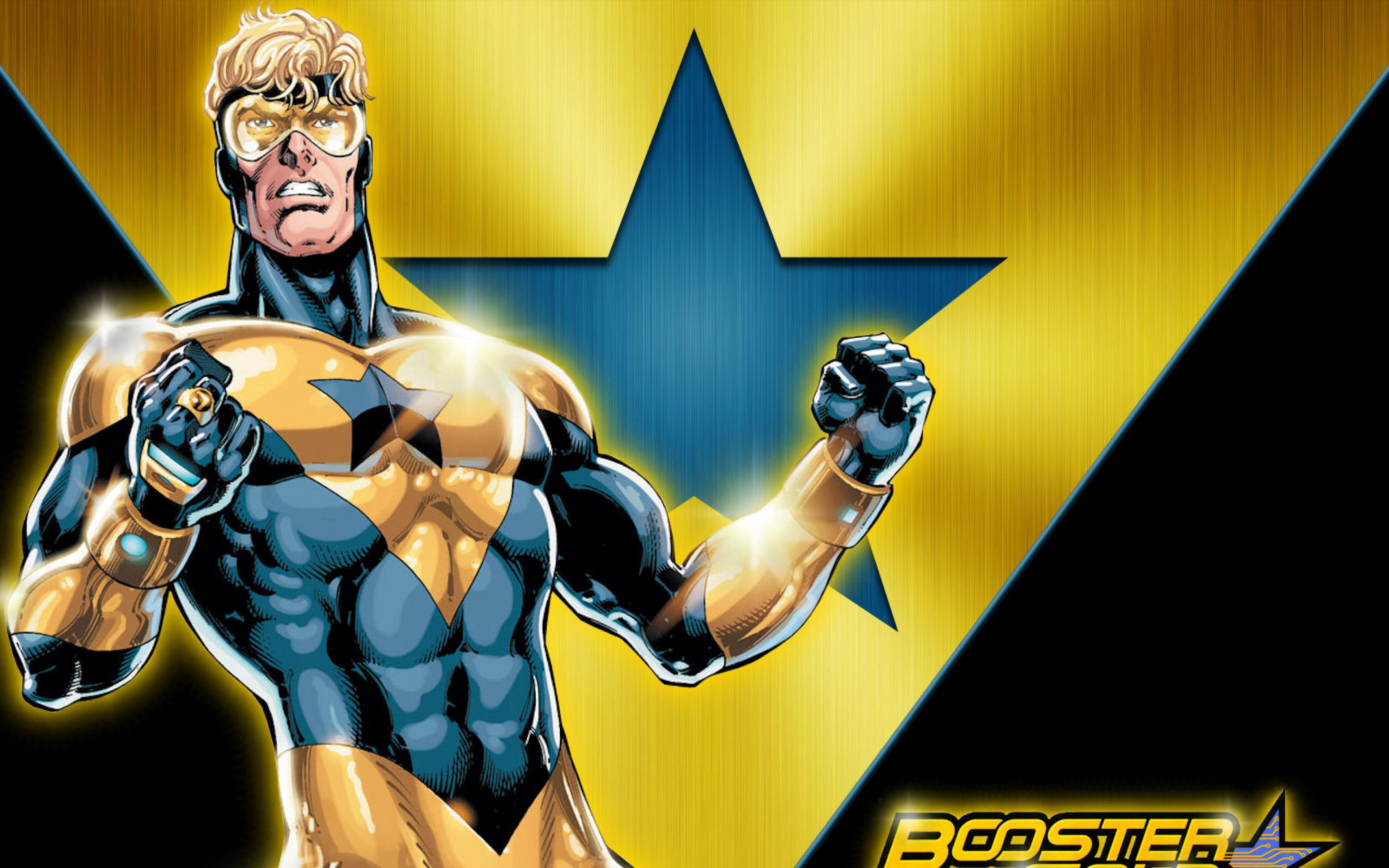 Booster gold Dc comics Superhero Wallpaper Background Ultra HD 4K 3840x2400