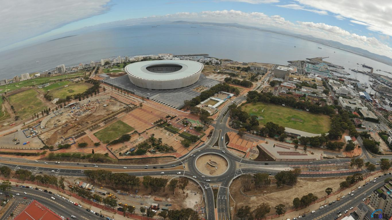 Download Wallpaper Cape Town stadium South Africa 1366 x 768 1366x768