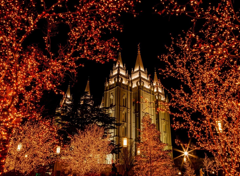 Salt Lake Temple Christmas Lights Wallpaper Salt Lake City Photo 1440x1058