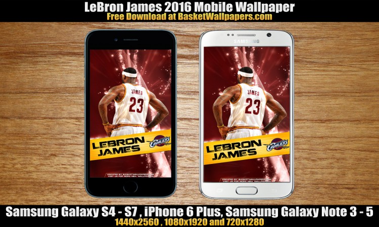 LeBron James Cleveland Cavaliers 2016 Mobile Wallpaper 750x450