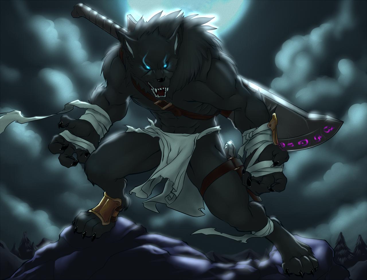 Anime Wolf Wallpapers - WallpaperSafari