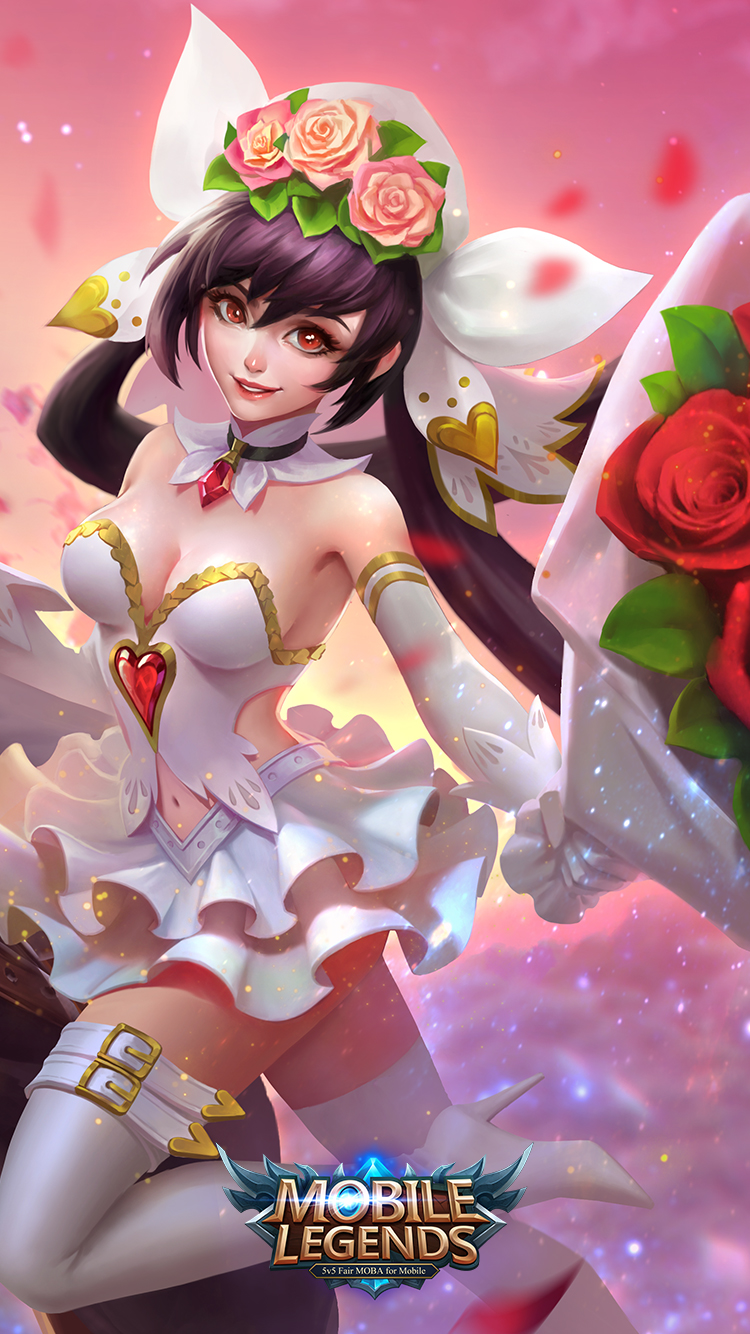 Mobile Legends Layla Cannon and Roses Skin   Wallpaperspit 750x1334