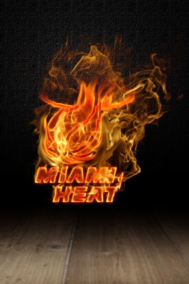 Miami Heat Logo 2 iPhone wallpapers Background and Themes 640x960
