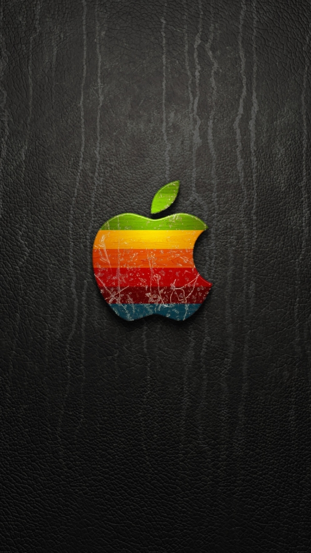 3D Vintage Apple Logo Wallpaper   iPhone Wallpapers 640x1136