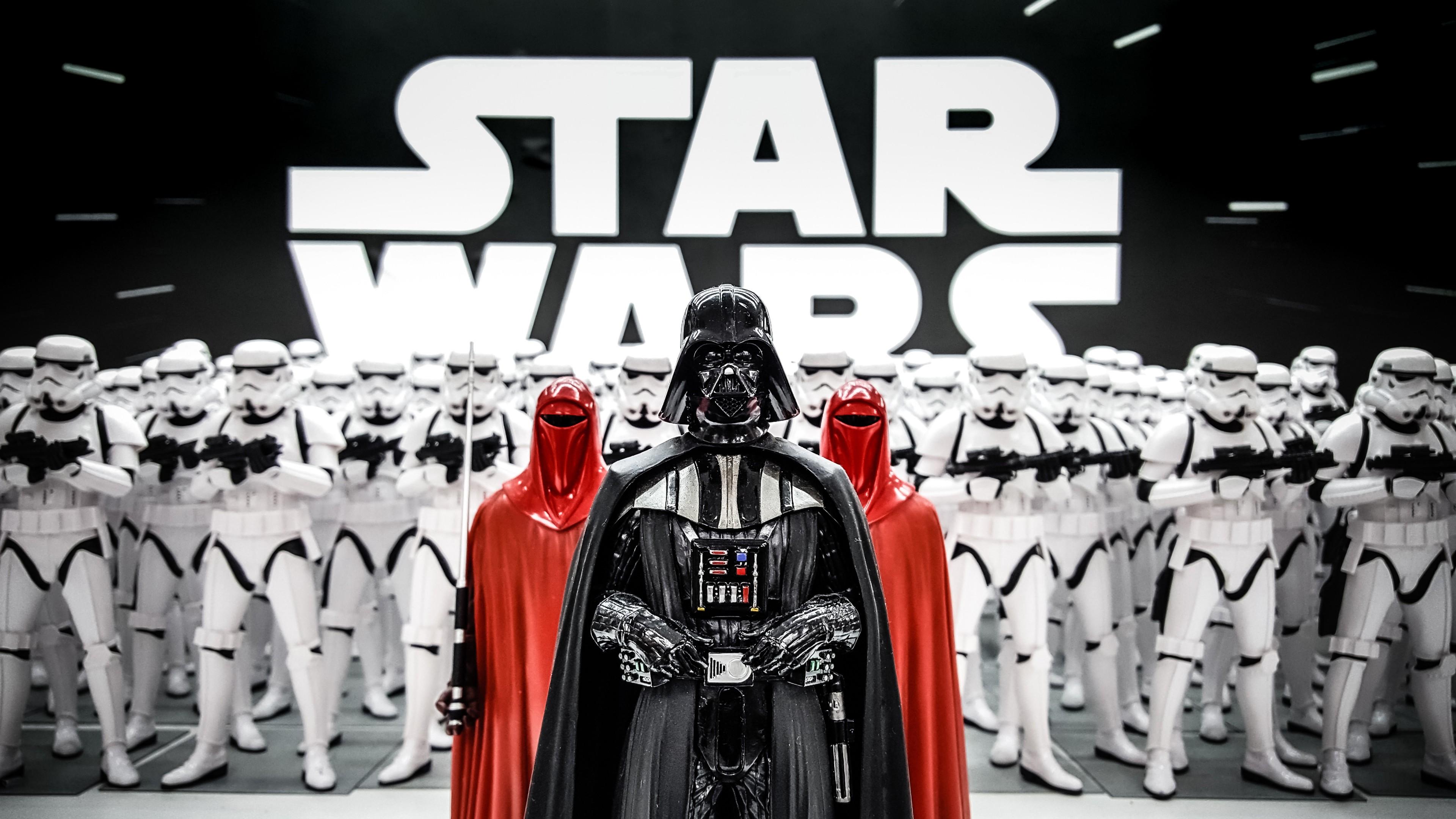 Wallpaper Darth Vader Figurine Star Wars Clone Trooper 5K Art 3840x2160