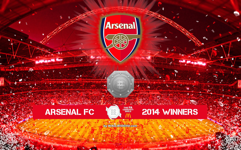 Arsenal FC 2014 FA Community Shield Winners Wallpaper 2880x1800