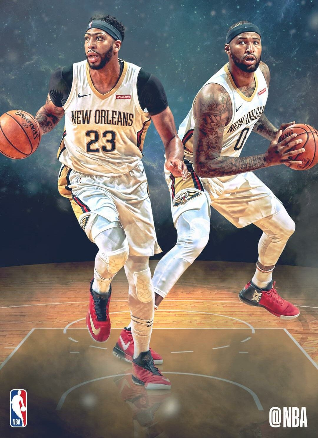 Anthony Davis and Demarcus Boogie Cousins New Orleans Pelicans 1080x1486