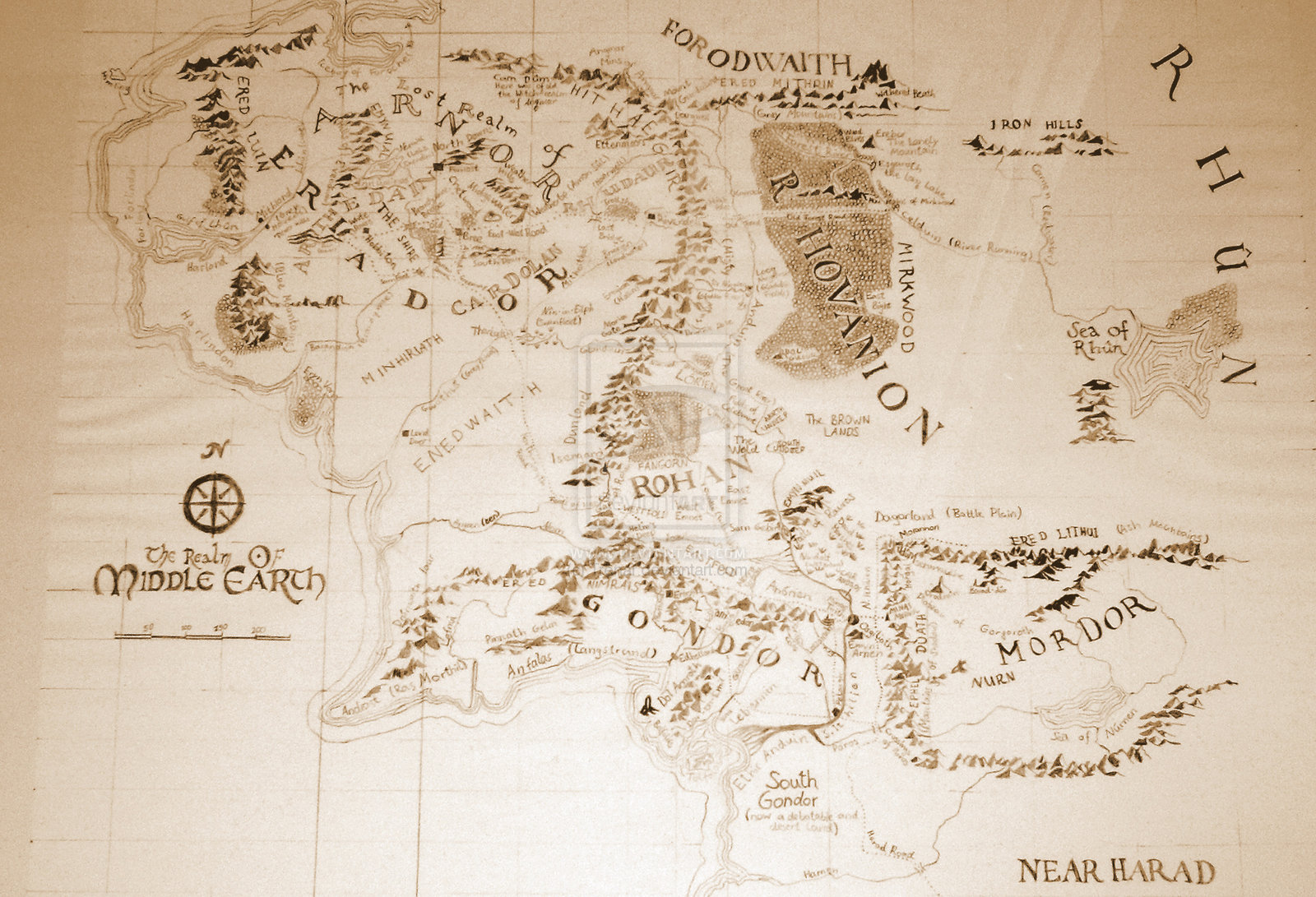 Free download map of middle earth by trenar on deviantart a map of
