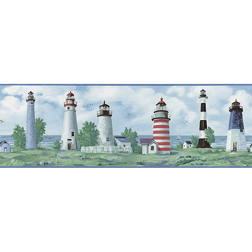 Blue Mountain Lighthouse Wallpaper Border Scenic   Walmartcom 500x500