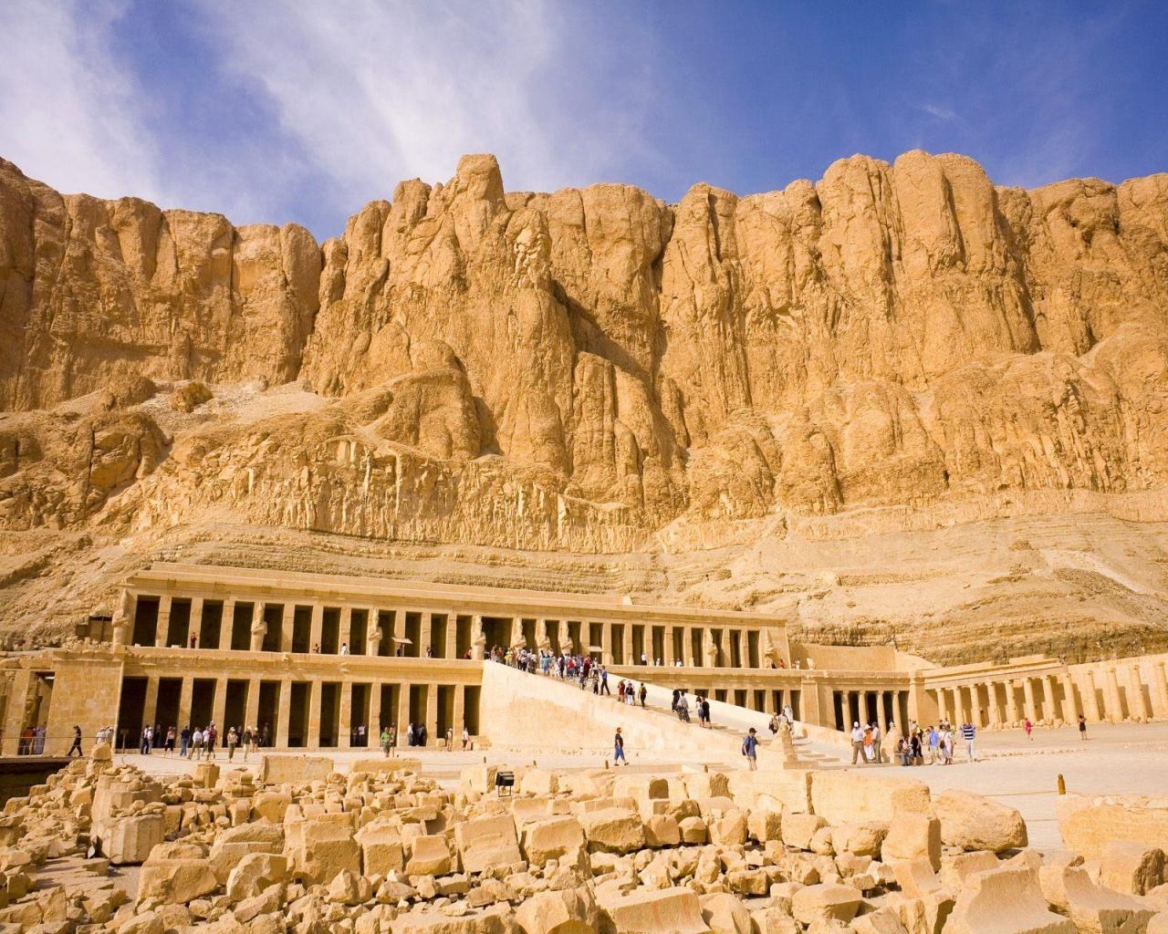 1280x1024 Queen Hatshepsut Temple Egypt desktop PC and Mac wallpaper 1280x1024
