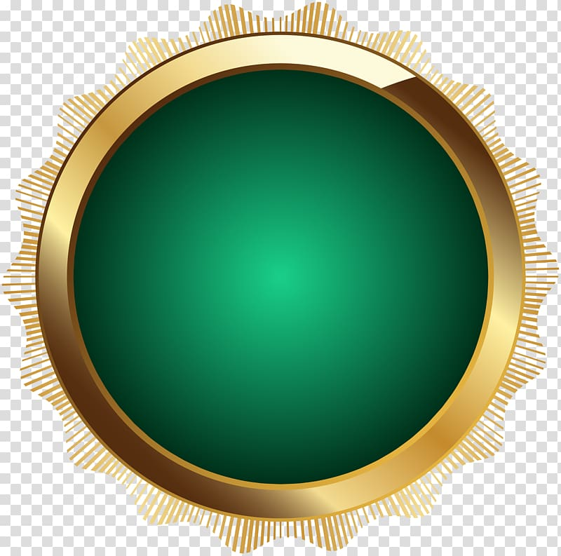 Circle Design Product Seal Badge Green transparent background PNG 800x793