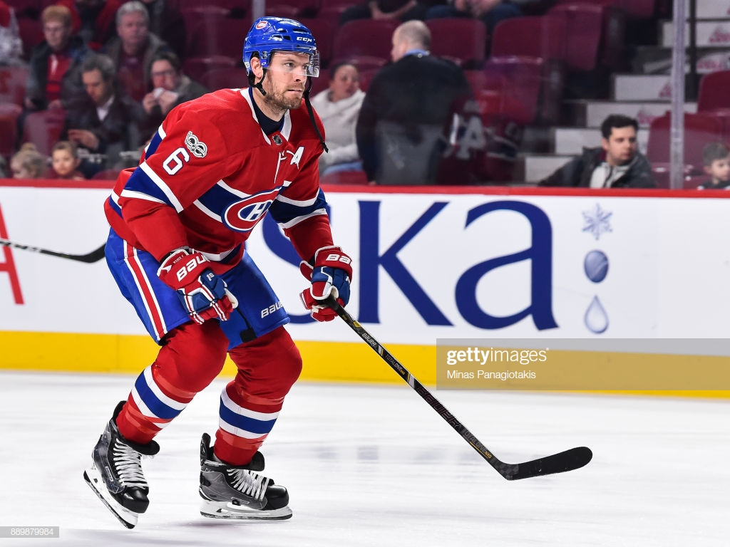 Shea Weber of the Montreal Canadiens skates during the warm up 1024x768