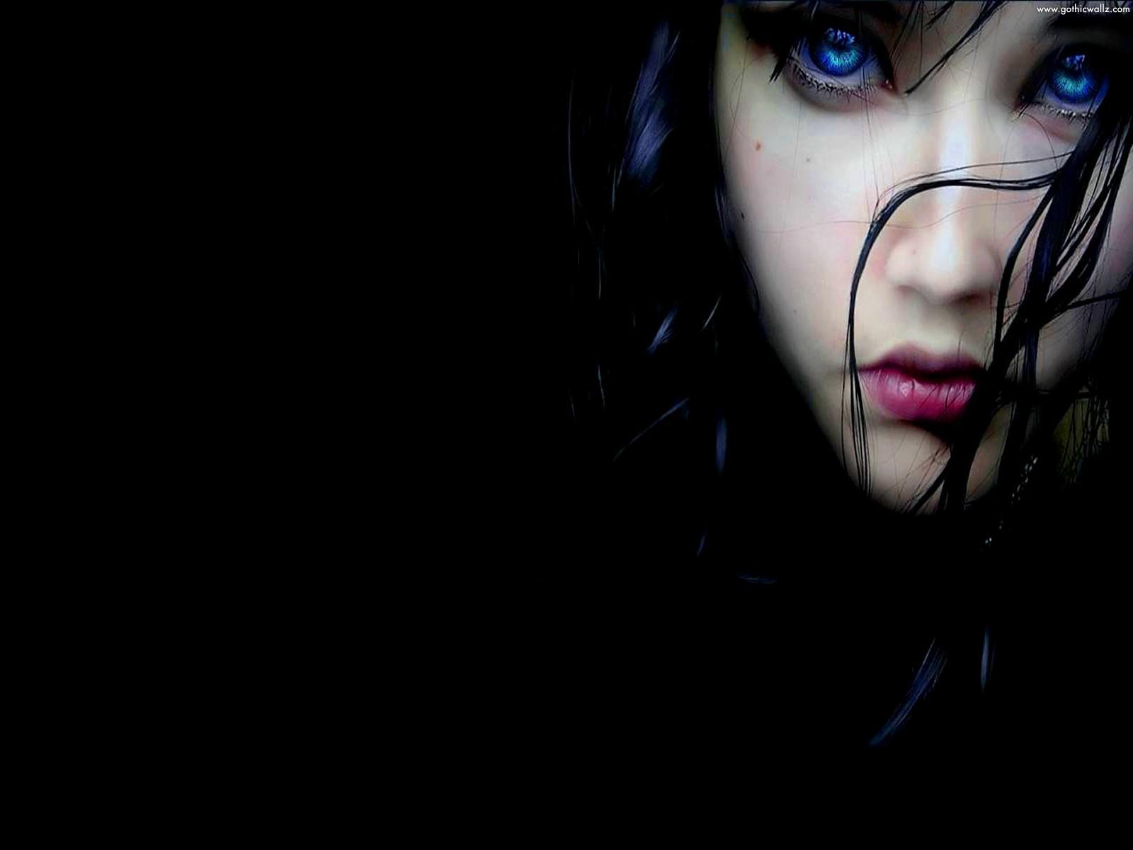 Gothic Wallpaper   Lady Gothic Blue Eye 1600x1200
