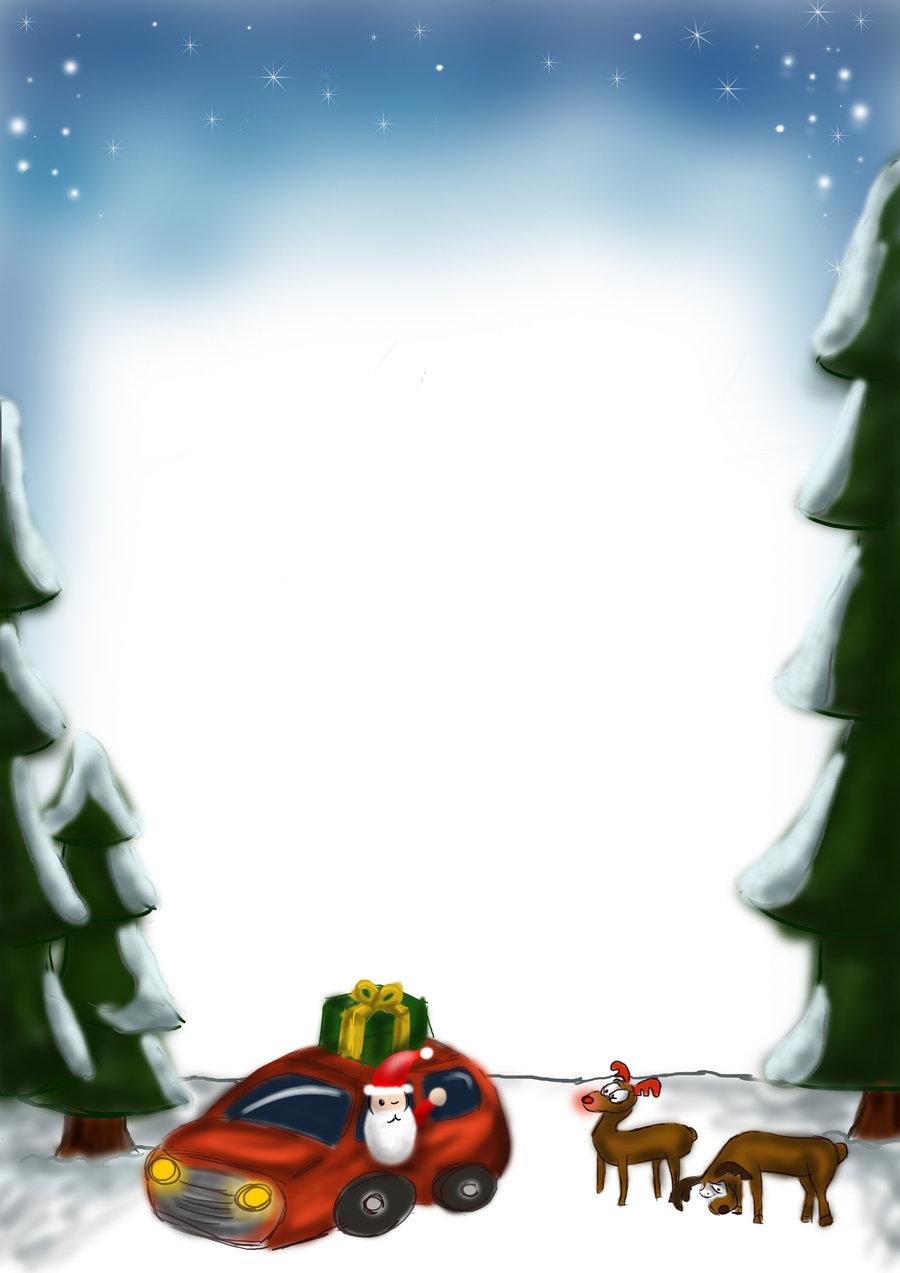 Christmas letter background by Septdeneuf 900x1273