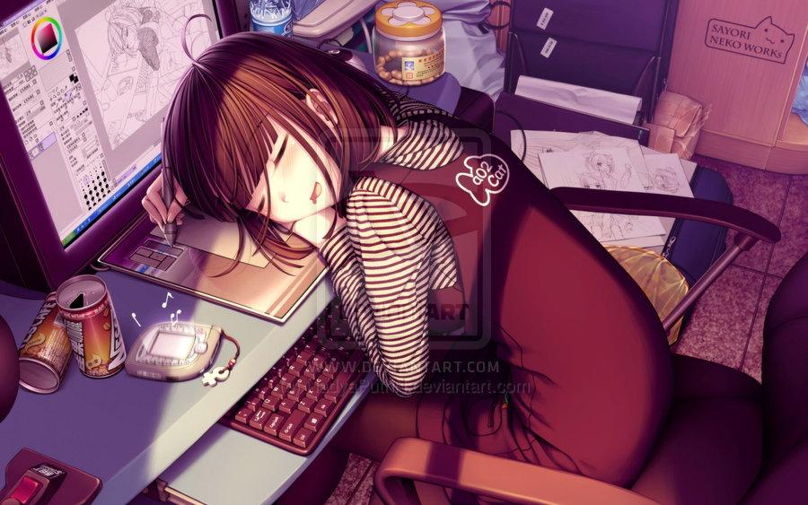 Cute Anime Girl by NadyaPutriN 900x563