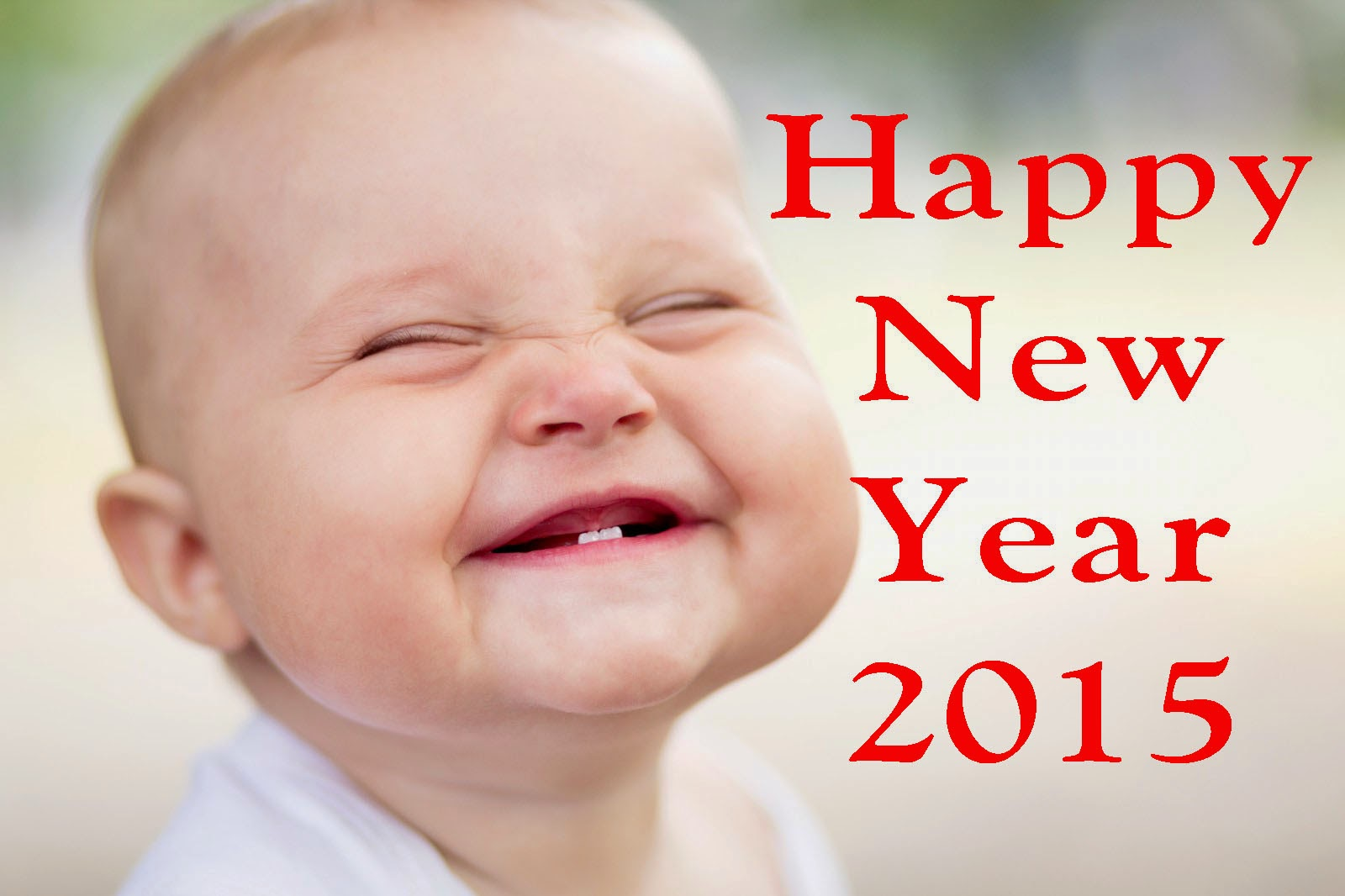 smiling cute babies hd wallpaper of new year 2015   Happy New Year 1600x1066