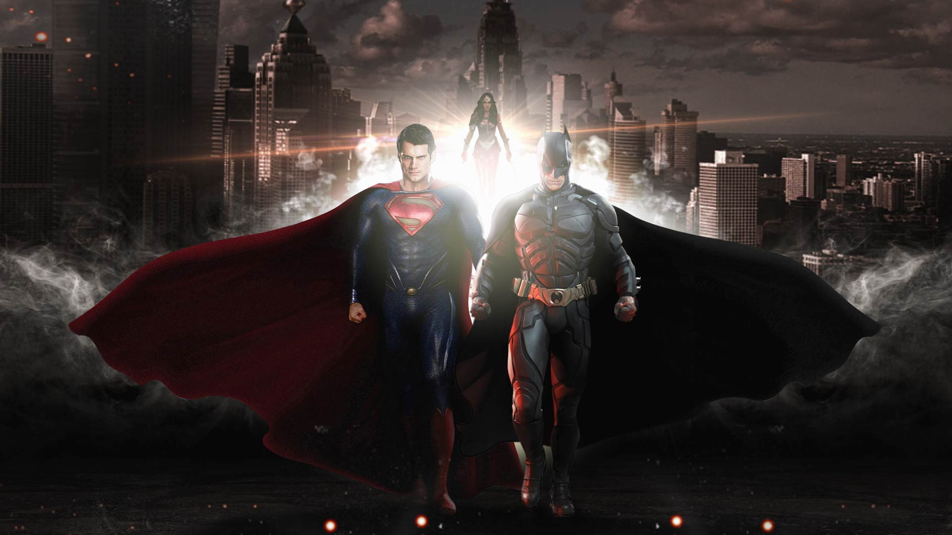 Batman And Superman Wallpaper Background HD Download 1920x1080