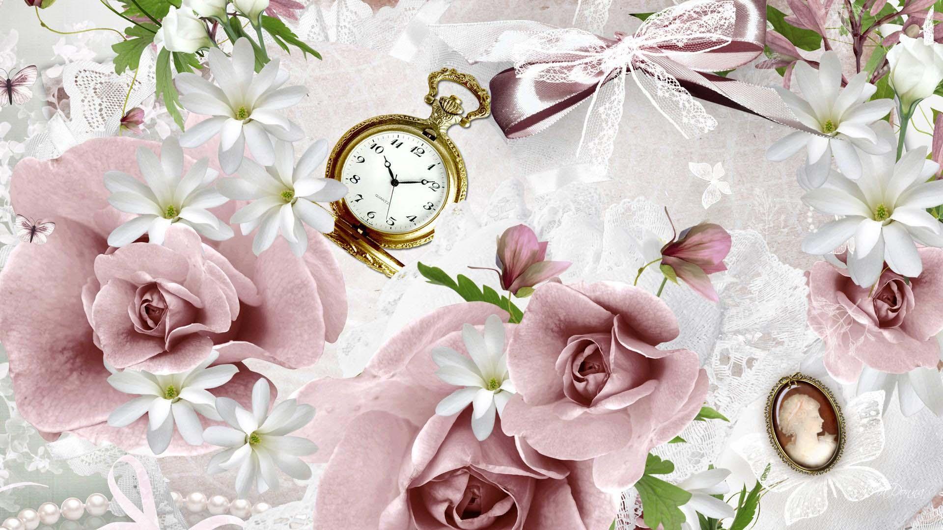 Винтажные цветы картинки на рабочий стол