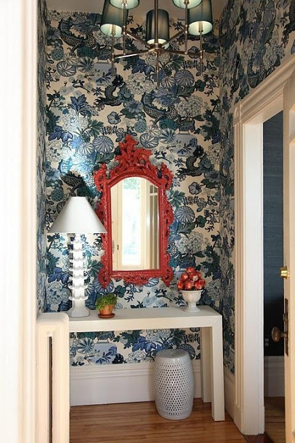 Chinoiserie Chic Red White Blue Chinoiserie   The Foyer and an 427x640