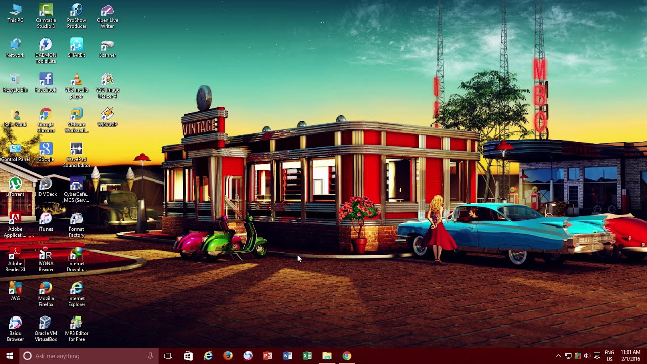 How To Have Animated Desktop Background Wallpaper Microsoft 1280x720