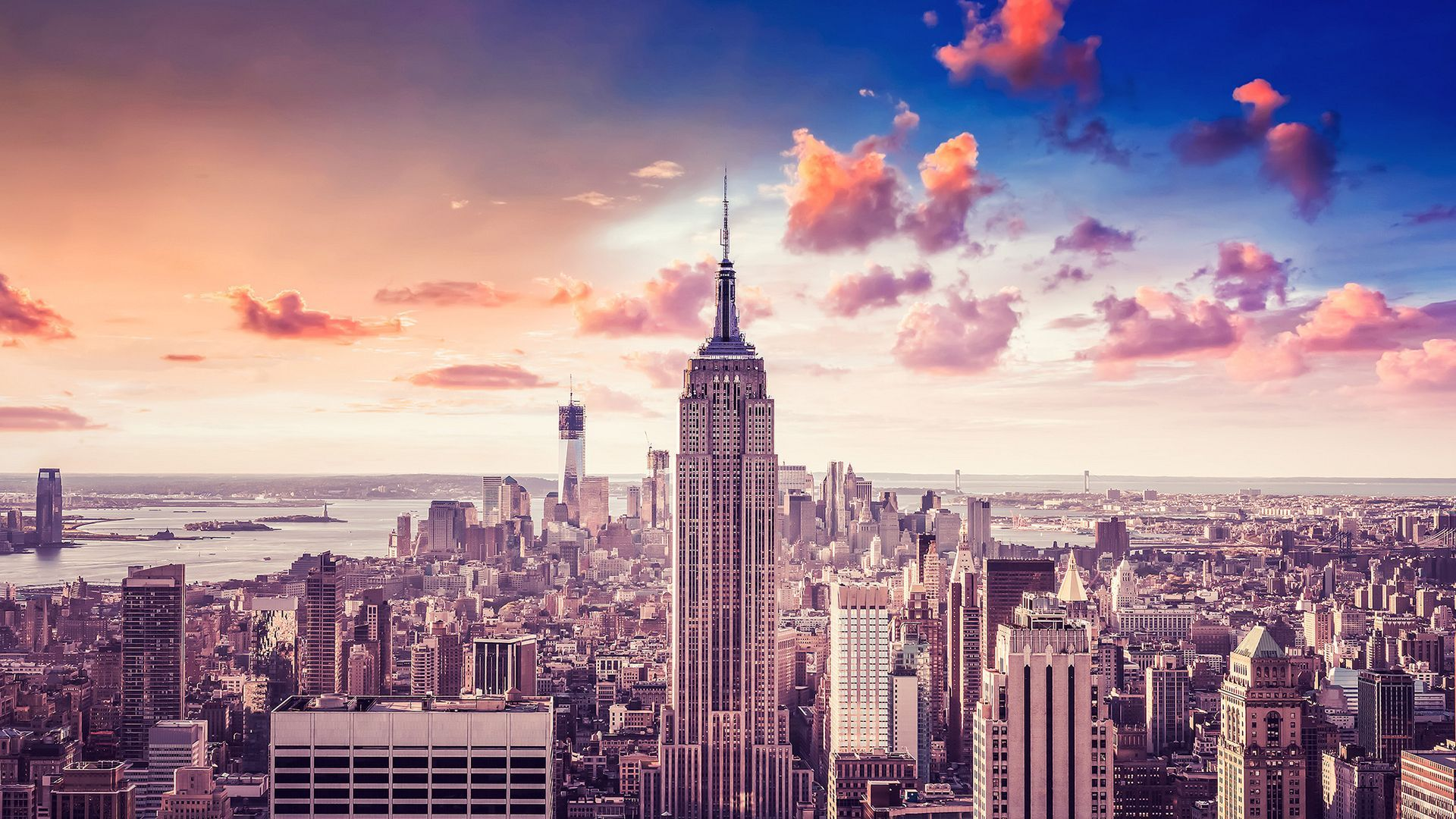 new york skyline wallpaper hd