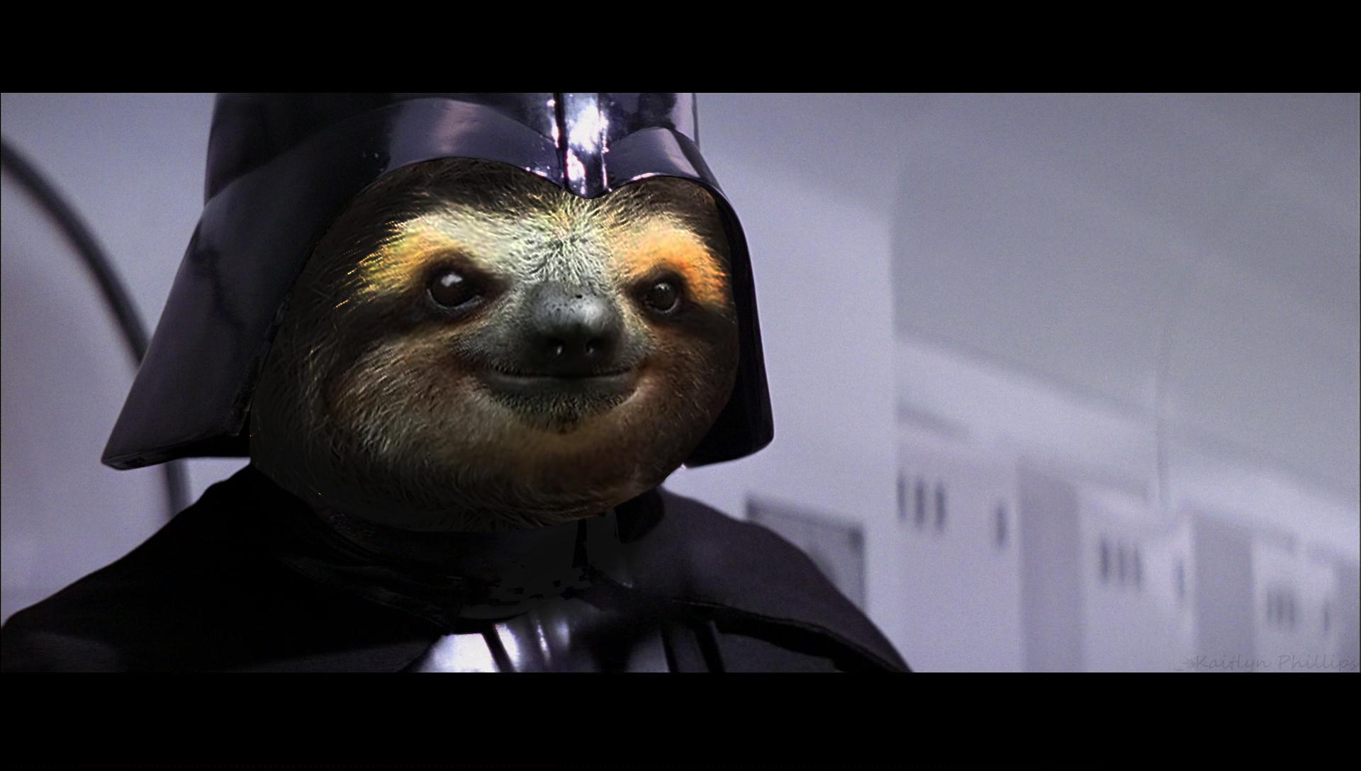 Sloth Vader a wallpaper I made for my boyfriend   Imgur 1920x1088