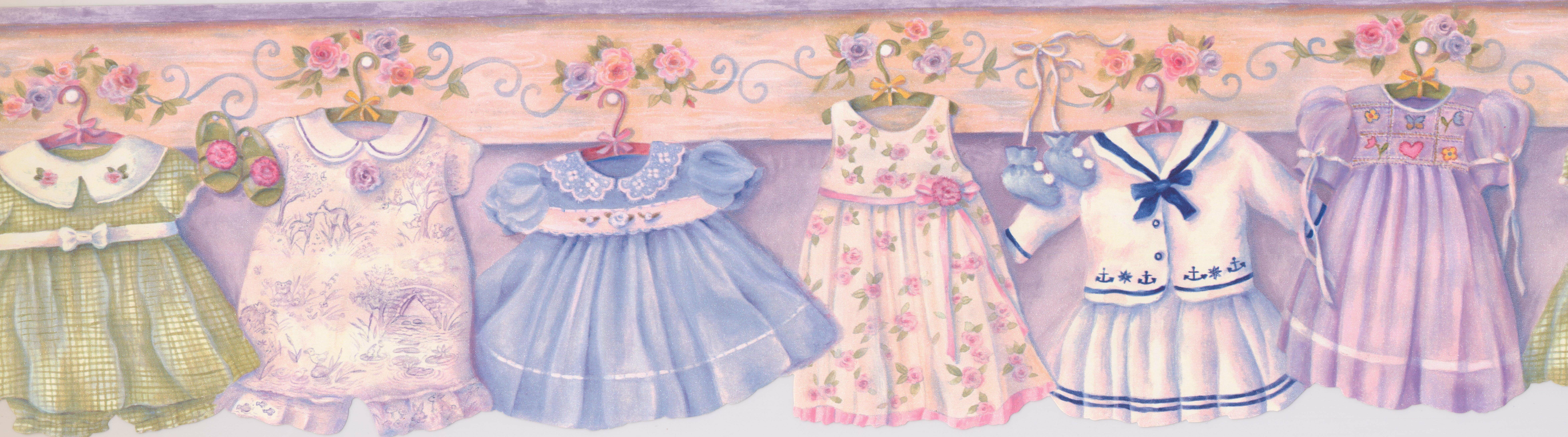Harriet Bee Baby Clothes Kids 15 x 65 Wallpaper Border Wayfair 9387x2620