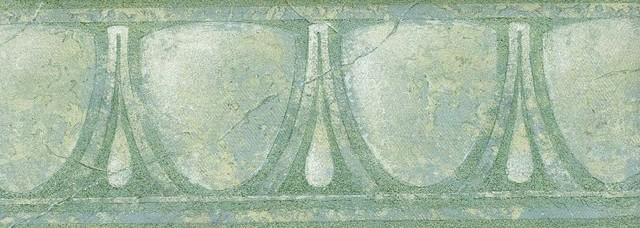 White Glass Vintage Wallpaper Border Roll   Traditional   Wallpaper 640x228